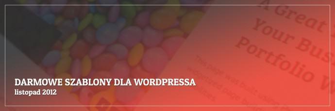 Darmowe szablony dla WordPressa - listopad 2012