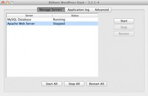 BitNami WordPress Stack - Manager