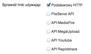 Broken Link Checker - protokoły iAPI