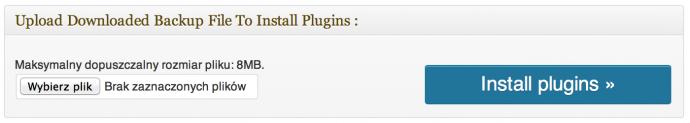 Multi Plugin Installer - odtwarzanie kopii wtyczek