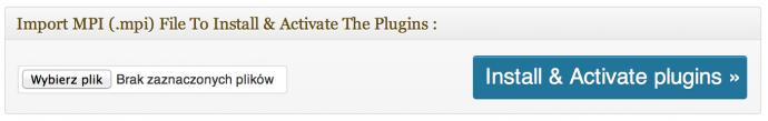 Multi Plugin Installer - odtwarzanie pliku MPI