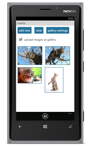 WordPress for Windows Phone - galeria
