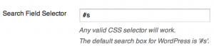 Search Autocomplete - selektor