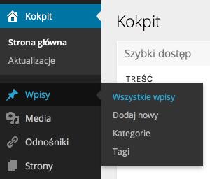 WordPress 3.6 - nowy panel administracyjny
