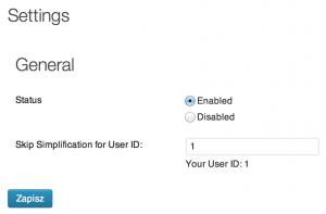 Admin UI Simplification