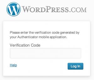 WordPress.com - weryfikacja dwuetapowa