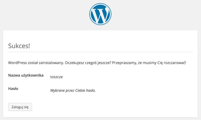 WordPress - instalacja