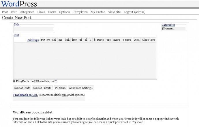 WordPress 1.0