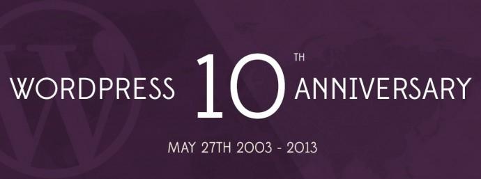 10 lat WordPressa - infografika