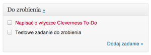 Cleverness To-Do List - kokpit