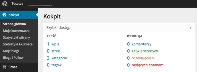 WordPress.com - nowy panel administracyjny