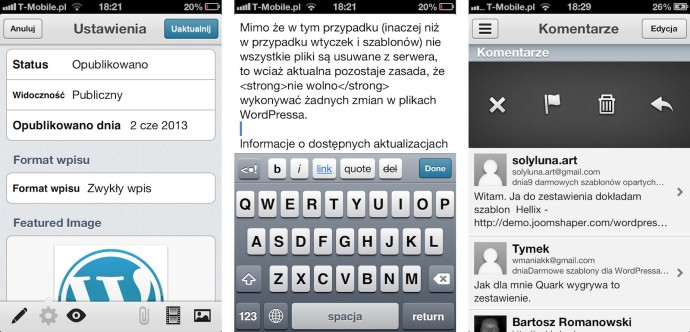 WordPress for iOS 3.6