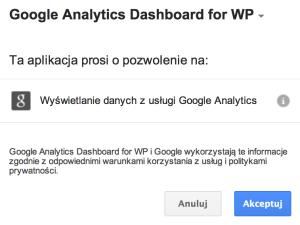 Google Analytics Dashboard for WP - zezwolenia