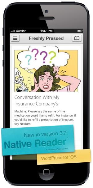 WordPress for iOS 3.7 - Reader