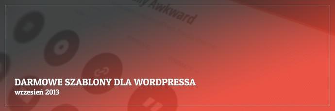 Darmowe szablony dla WordPressa – wrzesień 2013