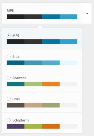 MP6 - zestawy kolorów