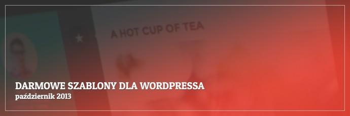 Darmowe szablony dla WordPressa - październik 2013