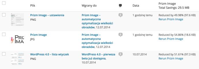 Prizm Images - lista plików