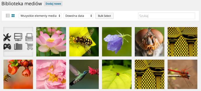 WordPress 4.0 - biblioteka mediów