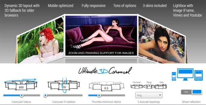 TheWebMaker Ultimate 3D Carousel