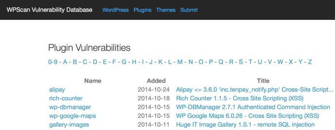 WPScan Vulnerability Database