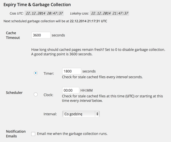 WP Super Cache - garbage collector