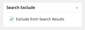 Search Exclude