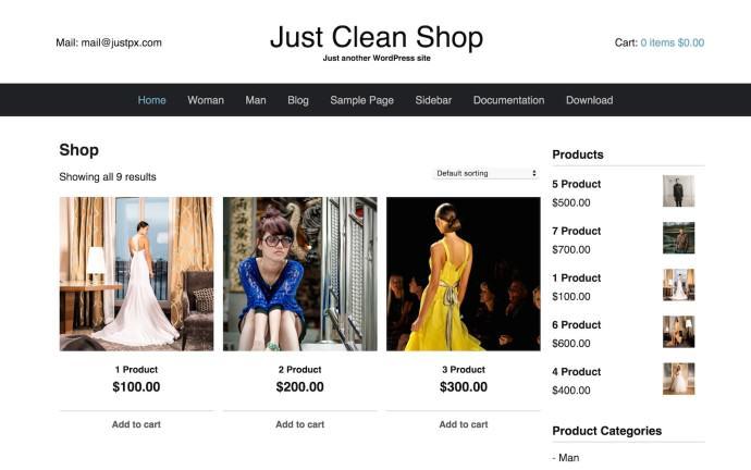 Just Clean Shop