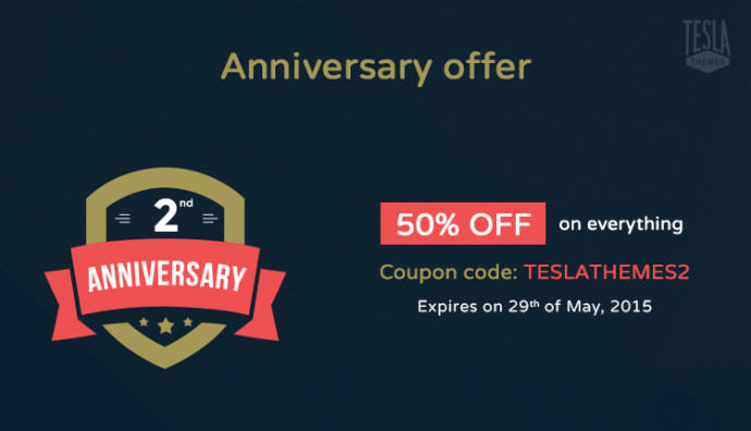 TeslaThemes Anniversary