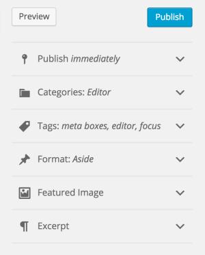 WordPress 4.5 - metadane wpisu