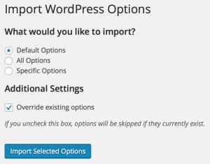 WP Options Import