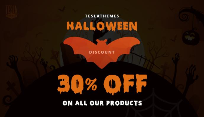 Halloweenowa promocja TeslaThemes