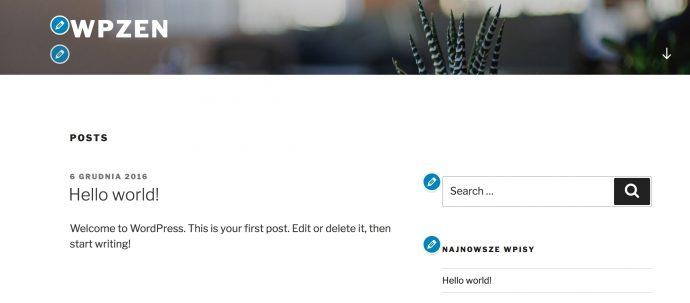 WordPress 4.7 - wskazówki wPersonalizatorze