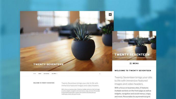 WordPress 4.7 - Twenty Seventeen