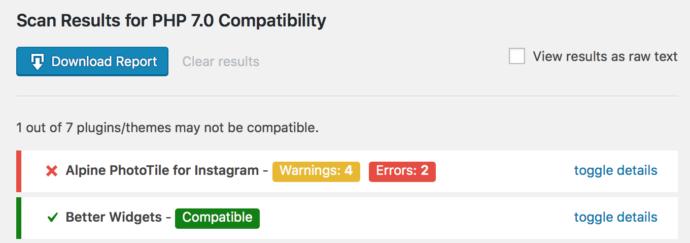 PHP Compatibility Checker