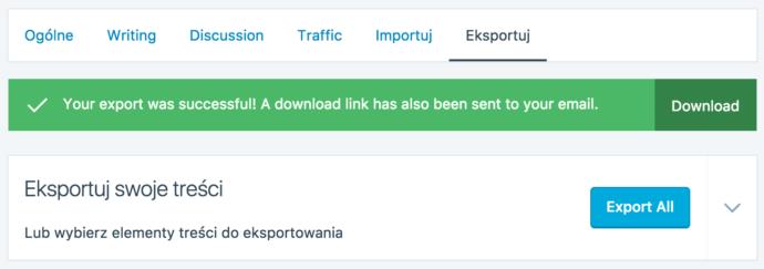 WordPress.com - eksport