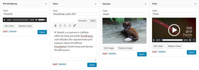 WordPress 4.8 - nowe widgety